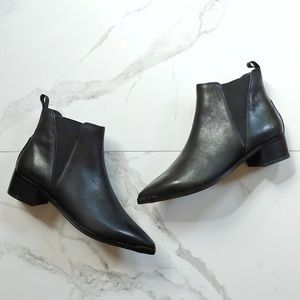 Tony Bianco Black Leather Ankle Boots